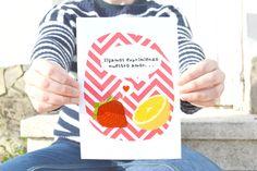 Lámina Zumo  www.amaigaberria.com Lámina con dibujo romántico Love, amor, pareja, San Valentín, enamorados