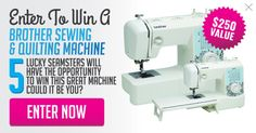 Enter To Win Your Own $250 Brother Sewing Machine 9/17/16 {US}... IFTTT reddit giveaways freebies contests