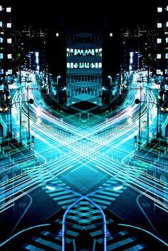 Arte e Arquitetura: Graffiti da Velocidade / Espelho Simétrico, por Shinichi Higashi