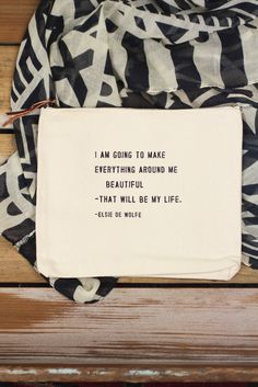 Sugarboo Designs 'Make Everything Around Me Beautiful' Canvas Pouch
