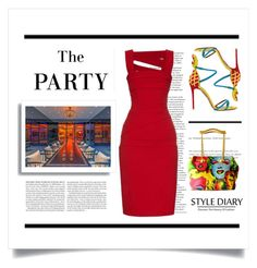 """""""Dinner Party"""" by conch-lady ❤ liked on Polyvore featuring Aquazzura, H&M and Versace"""