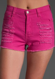 MINKPINK hot pink shorts