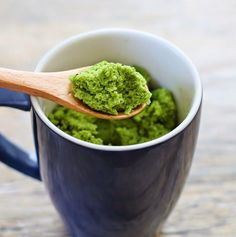 Matcha Green Tea Mug Cake | Kirbie's Cravings | A San Diego food & travel blog