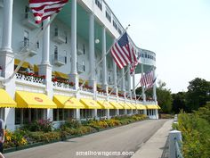 The Grand Hotel in Mackinac Island, Michigan. It's an all-inclusive experience.