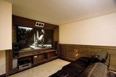 Wooden TV room