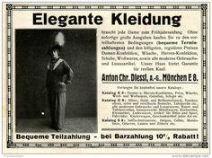 Original-Werbung/Inserat/ Anzeige 1914 - MODE - ELEGANTE KLEIDUNG / DIESSL MÜNCHEN -  ca. 140 x 100 mm
