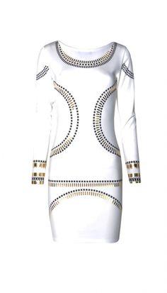 Gold Foil Trim | Bodycon | Mini Dress | OMG Fashion (KIM)