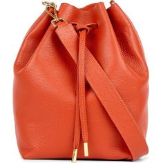 Mon Purse Daily leather bucket bag (14,405 THB) ❤ liked on Polyvore featuring bags, handbags, shoulder bags, bucket bag purse, leather shoulder bag, monogrammed purses, bucket shoulder bag and leather handbags