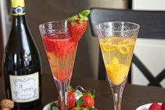 bellini bar! fun idea for a girls night in!
