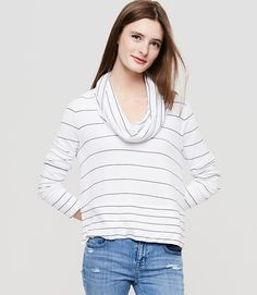 Image of Lou & Grey Striped Signaturesoft Cowl Top