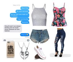 """""""best friend"""" by bchagolla01 ❤ liked on Polyvore featuring Glamorous, rag & bone, Converse, Casetify and Bling Jewelry"""