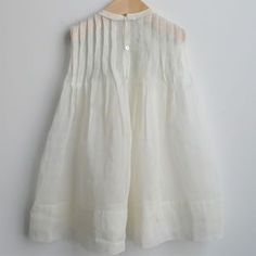 Beautiful white linen little dress
