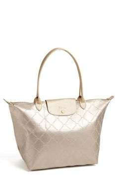 In love! Metallic Longchamp Tote