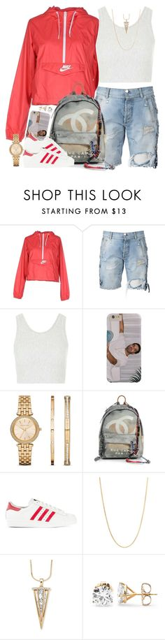 """Check Mate"" by oh-aurora ❤ liked on Polyvore featuring NIKE, Faith Connexion, Topshop, Michael Kors, Chanel, adidas Originals, Sevil Designs, Palm Beach Jewelry, women's clothing and women's fashion"