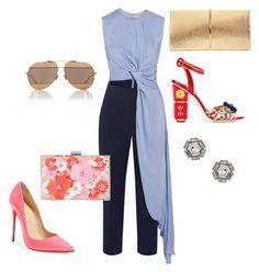 """Blue Lovin'!!!!"" by la-harrell-styling-co on Polyvore featuring Roksanda, Christian Louboutin, Dolce&Gabbana, Nina Ricci, New Look, Christian Dior and Topshop"