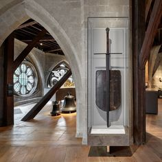 """Westminster Abbey's Instagram profile post: """"'You have an excellent armour' - Henry V (Act III, Scene 7) This wooden shield and 7-foot long, two-handed broadsword belonged to Edward…"""" Westminster Abbey, United Kingdom, Armour, Scene, Profile, Mirror, Instagram, User Profile, Body Armor"""