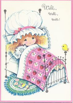 M275 Vintage  Greeting Card Strawberry Patch  Red by jarysstuff, $4.00