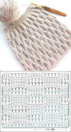 Узор крючком. Схема. Stitch crochet diagram
