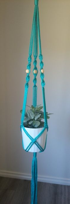 Macrame Pot/Plant Hanger Elwood by TheColouredKnot on Etsy, $40.00