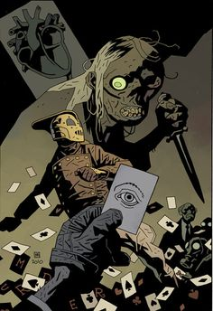 Rocketeer by Mike Mignola (color by Dave Stewart)