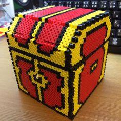 3D Zelda chest perler beads by sino432