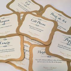 Wedding Cake Pull Charms Cards // Louisiana by PrimroseAndPark