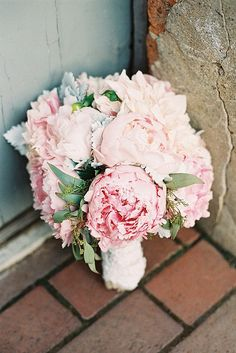 wedding bouquet, I want to see some green with the flowers