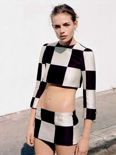 The UK Vogue In Glorious Mono Photoshoot is Black and White #fashion trendhunter.com