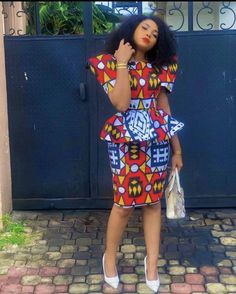 Short African Dresses, African Inspired Fashion, Latest African Fashion Dresses, African Print Dresses, African Print Fashion, Ankara Fashion, African Prints, Ankara Styles For Women, Traditional African Clothing