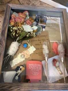 Cool idea for keepsakes for after the wedding.