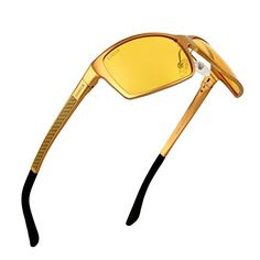 8b021a242a Anti-Glare Polarized Yellow Lens Day   Night Driving Glasses for Men    Women Vision