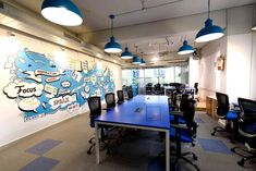 Digital Nest - Vibrant office design ideas for startups with young staff base - designed by Urban Shaastra Workspace Design, Office Interiors, Startups, Nest, Digital Marketing, Vibrant, Design Ideas, Layout, Urban