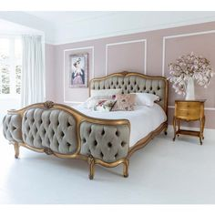 Buy the beautifully designed Palais de Versailles Curved Luxury Upholstered Bed, by The French Bedroom Company. Shop 24 hours a day for Effortless Luxury Online. French Furniture, Bedroom Furniture, Bedroom Decor, Master Bedroom, Retro Furniture, Cozy Bedroom, Dream Bedroom, Furniture Ideas, Versailles