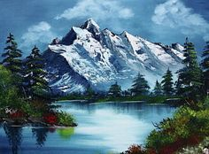 Choose your favorite bob ross paintings from millions of available designs. All bob ross paintings ship within 48 hours and include a money-back guarantee. Bob Ross Paintings, Paintings For Sale, Diy Photo, Peintures Bob Ross, Crayons Pastel, Bob Ross Art, Monte Everest, The Joy Of Painting, Mountain Art