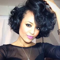 HAIRSPIRATION| I'm such a fan of #bighair @Yodithaile's curly bob➰ is gorgeous and so full of movement She's stunning❤️ #VoiceOfHair ========================= Go to VoiceOfHair.com ========================= Find hairstyles and hair tips! =========================