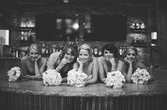 Rustic Bar. Wedding Party. The Barn