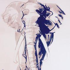 Some elephant love for y'all! #ink #inkart #inkstagram #inkdrawing #inked #elephants #elephantart #inkpainting #inkpaintings #elephant #elephantart #elephantlove