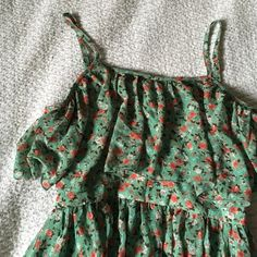 Floral Mint Dress Very cute and flowy! No flaws! Never worn! Just posted under brand for views. Forever 21 Dresses