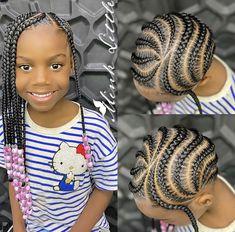 Black Little Girl Hairstyles, Cute Girls Hairstyles, Braided Hairstyles For Black Women, Braids For Black Hair, Natural Hairstyles, Toddler Braids, Braids For Kids, Toddler Hair, Kid Braids