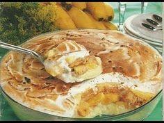 Torta de Banana Vapt-Vupt Banana Dessert, Banoffee, Sweet Pie, Portuguese Recipes, Sweet Recipes, Cupcake Cakes, Muffins, Dessert Recipes, Food And Drink