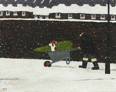 Gary Bunt |  My Hat. We've been to fetch Our Christmas tree Now we are heading back Not far to go And it started to snow So it's a good job I wore my hat