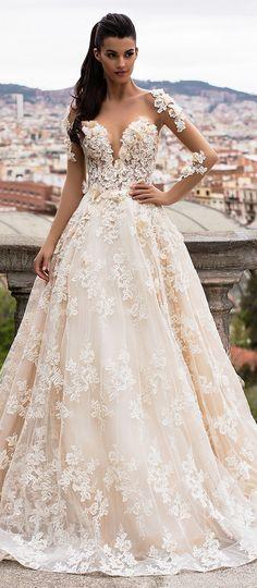Milla Nova Bridal 2017 Wedding Dresses bella / http://www.deerpearlflowers.com/milla-nova-2017-wedding-dresses/