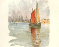 Woodboats and Dogana - Childe Hassam