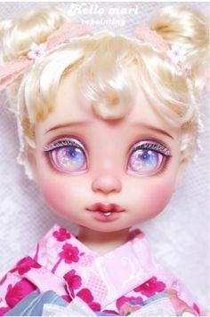 Gonna do this to my secondhand doll! Ooak Dolls, Blythe Dolls, Girl Dolls, Disney Baby Dolls, Disney Animator Doll, Broken Doll, Diy Crafts Hacks, Creepy Dolls, Doll Repaint