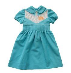 VINTAGE 60's / enfant / robe / turquoise et par Prettytidyvintage