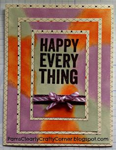 Pam's Clearly Crafty Corner: Operation Smile Blog Hop