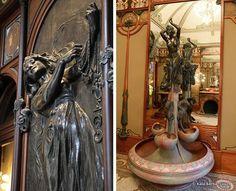 Joalheria de Georges Fouquet, projetada por Mucha - Paris - 1900  Atual Museu Carnavalet