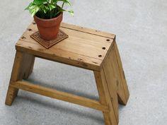 Pine Wood イギリスアンティーク古いパイン材のスツール椅子台G 361 インテリア 雑貨 家具 Antique ¥10000yen 〆05月29日