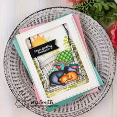 Newton's Nook Designs – June Release  Day 4   Cards and Coffee Time Dog And Cat Images, Cloud Stencil, Swing Card, White Gel Pen, Friendship Cards, Sleepy Cat, Cards For Friends, Porch Swing, Ragdoll Kittens
