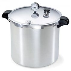 The Presto 23 qt. Pressure Canner and Cooker is designed for easy, confident home pressure canning. The only method recommended safe for canning vegetables, meats, poultry and seafood. Deluxe pressure gauge automatically registers the complete range. Presto Pressure Cooker, Steel Pressure Cooker, Electric Pressure Cooker, Rice Cooker, Slow Cooker, Sous Vide Stick, Canning Rack, Low Acid Recipes, Modern Kitchens